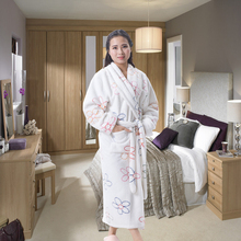 women romantic night dress white bathrobe