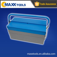 Portable 5 trays tool box,two layer empty tool box,