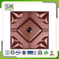 China Factory High Quality Carved 3D Leather Wall Panel
