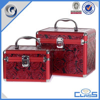 MLD-CC820 New women aluminum frame toiletry cosmetic makeup bag with light mirror