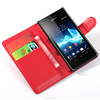 Exquisite clip wallet leather case cover for sony xperia z ultra
