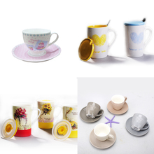 South Korea's creative Bamboo fiber expression Cartoon Smiling face expression coffee cups with double handle wholesale