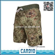 polyester elastane the color camo Leaves hiking shorts mens cargo short
