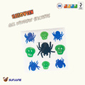plastic spider gel gems window sticker