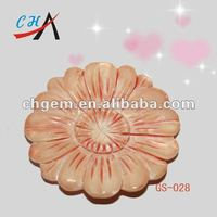 Natural carved shell flower Craft