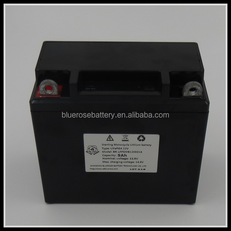 manufacturer YAMAHA DUCATI BMW SUZUKI HONDA KAWASAKI 400cc 12v 12.8v 9Ah LiFePO4 starting motorcycle lithium battery batteries
