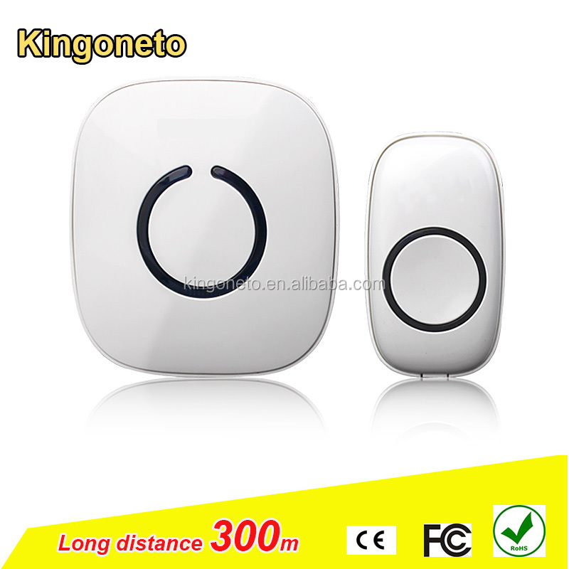 300m Wireless digital door chime 52 melody AC/DC wireless door bell Waterproof IP 54 Wireless doorbell