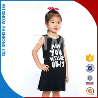 Hot sale Fashion new model casual kids party wear dresses for girls