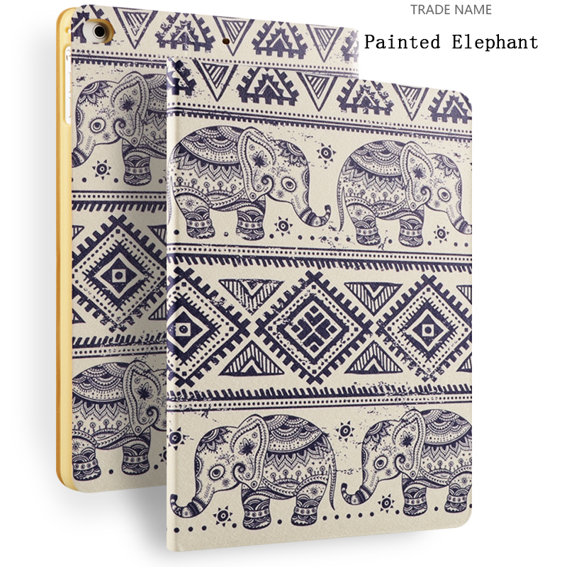 Baby Elephant Painting Case for iPad mini, for iPad 8 inch Case with Auto Sleep/Wake, for iPad mini 1 2 3 case