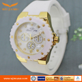 Quartz Watch New Silicone Watch Strap High-grade Customization Watch Band Gold