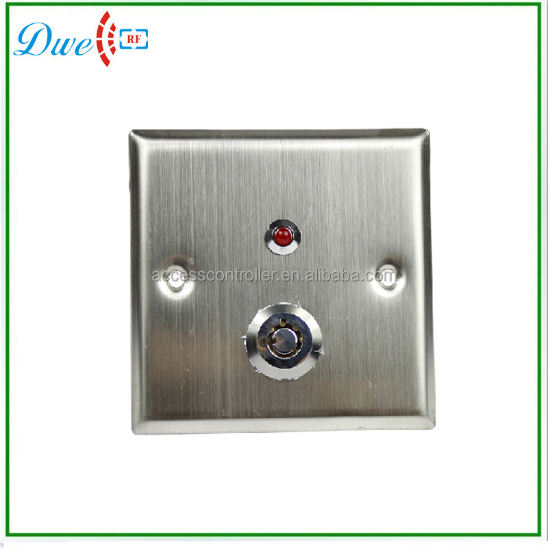 Stainless steel Key switch with LED indicator push button swtich DW-806L