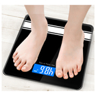 Good Quality Black Bluetooth Digital Bathroom Scale Body Fat Scale