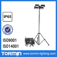 waterproof IP65 high power 4x500W 4x1000W construction light tower with the maximum lifting height 6.3meters