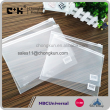 Waterproof Zip Lock Bag Document A4 Clear Plastic Pockets File Folder