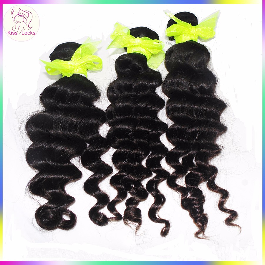 Cheap Wholesale Natural Black Color Eurasian Loose Deep Raw Remy Hair Weaving 7A 10A 10A Grade With Different Size
