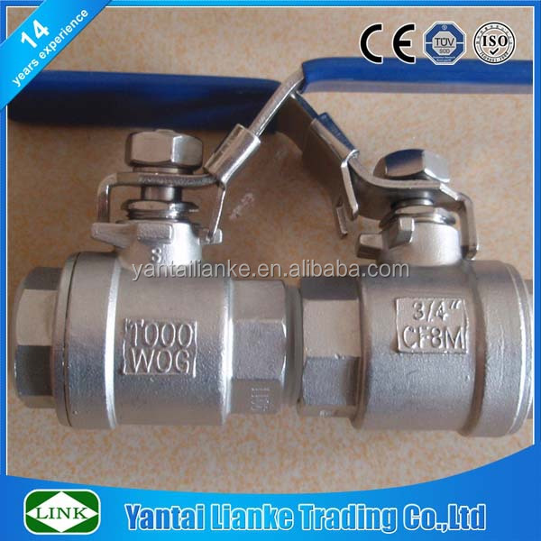 1000WOG 2 piece BSP thread 2 inches pipeline 316 cf8m ball valve