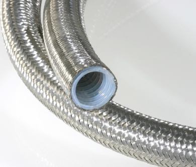 304 Stainless steel wire braided steam flexible PTFE hose