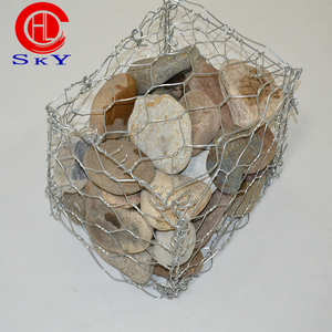 2.5mm wire diameter hot dipped galvanized gabion mesh river protecting gabion box 20 years gabion basket for sale