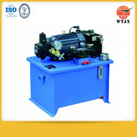 AC or DC hydraulic power unit pack for tipper trailer and lifting system