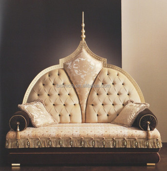 2015 NEW ITEM Luxury European Style Solid Wood Love Sofa, Palace Sofa, Arabic Style Sofa