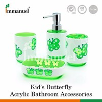 Taiwan Wholesaler Butterfly Decoration Bathroom Accessory