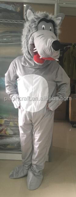 adult plush wolf costume,fancy dress