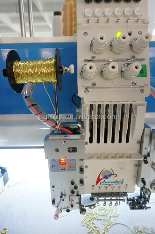 JINSHENG 12 head Embroidery Machine cording/sequin computer price for india saree