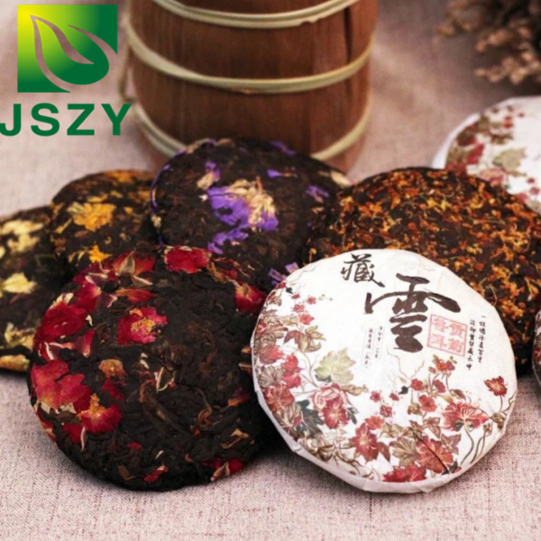 Free Shipping 200g/pc different flavor puer <strong>tea</strong> cake,puer flower <strong>tea</strong> cake,rose puer <strong>tea</strong>