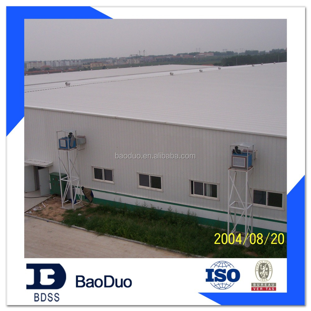 easy to install prefabricated steel structure warehouse building