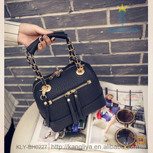 Leather office bags for women free patterns for mine bags specail design chain handle tote handbag