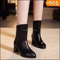 Fashion Motorcycle Martin Boots For Women,Winter Snow Boots Leather Flats Boots Ankle Shoes Plus Size 34-43