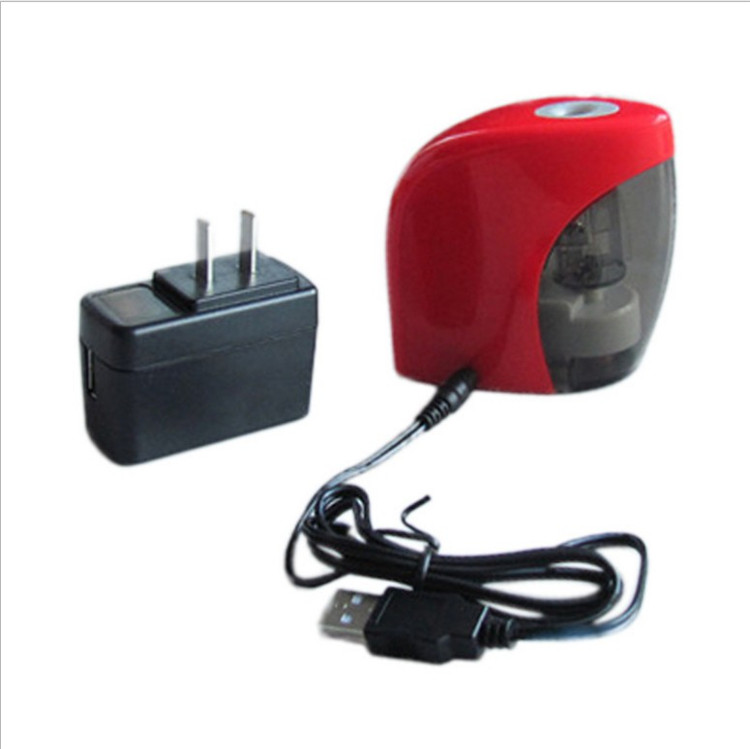 Wholesale students pupils stationery smart learning supplies USB electric pencil sharpener