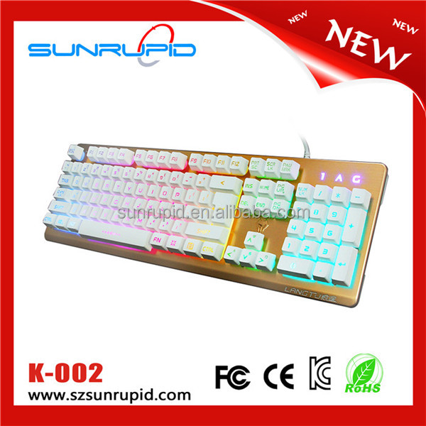 Backlit keyboard keyboard USB cable game light-emitting noctilucent notebook computer keyboard