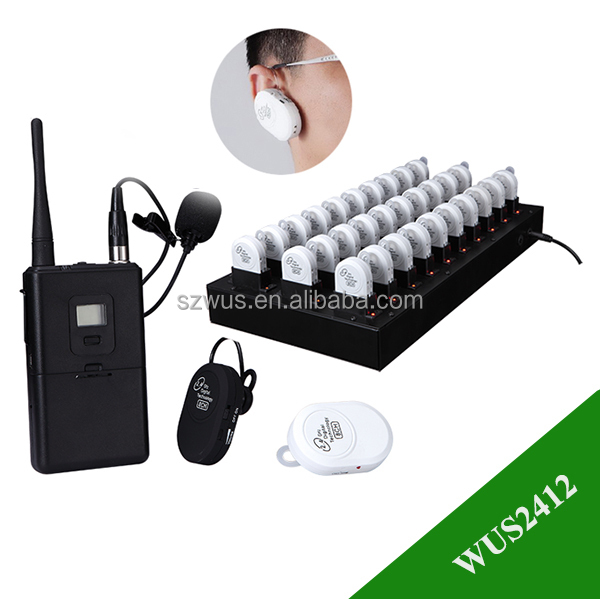 Portable Wireless Ear-hang Tour Guide Equipment with built-in battery for tourist and conference,in ear monitor system wireless