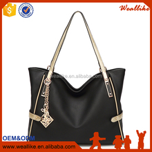 Wholesales Fashion Girls Shopping Travel Bags Leather Branded Luxury Handbag