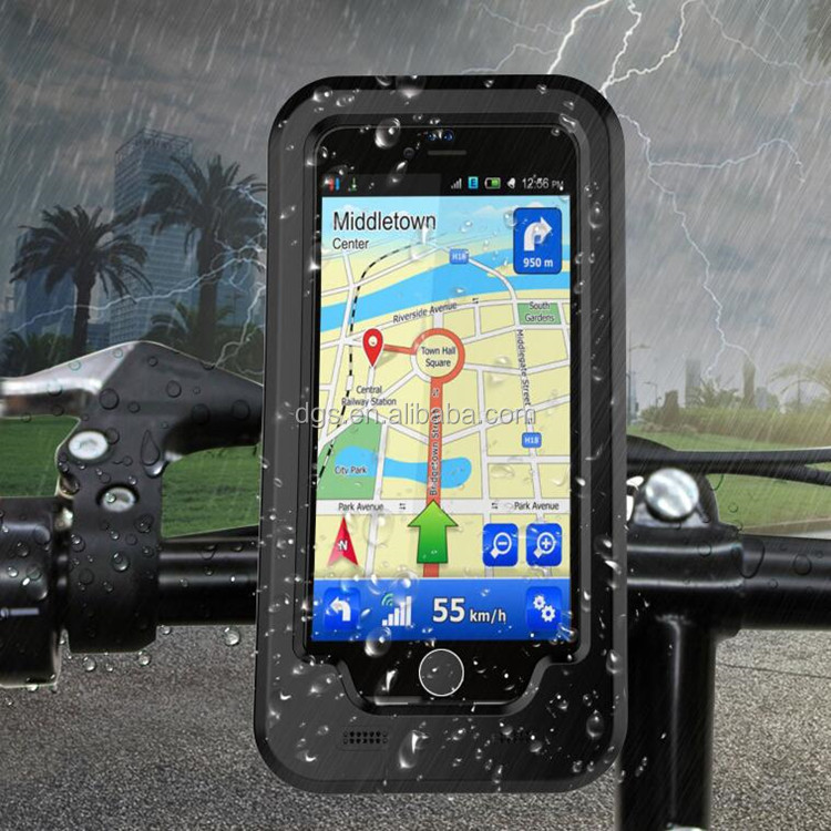 wholesale bicycle motorcycle phone holder bike GPS holder navigation waterproof plastic case for iPhone 6/6, 7/7 Plus