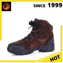 2016 Good Quality Full Leather waterproof power hiking shoes mens abkle boots
