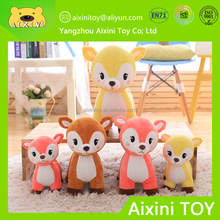 high quality custom made toys elastic soft plush deer toy with ICTI