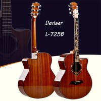 cheap acoustic electric guitar China 40'' Inlay rattan tylor acoustic guitar electric guitar