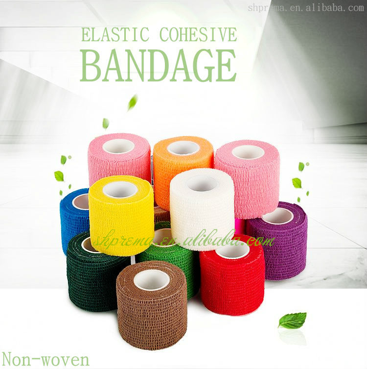 CE/FDA/ISO Qualified Non-woven Elastic Medical Cohesive Bandage dog printed bandage