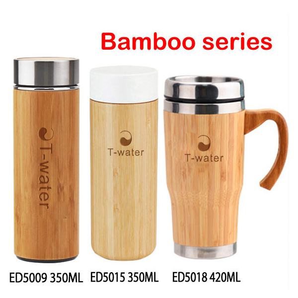 Wholesale custom printable eco friendly bamboo coffee travel mug with clear logo
