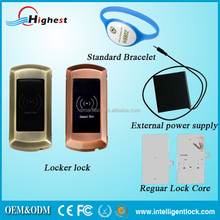 Zinc Alloy Body Safe Rfid Smart electronic cabinet lock for gym lockers lock