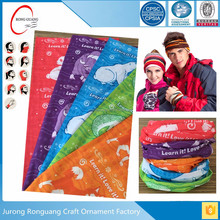 wholesale cheap custom head wrap in bandana 100% Polyester tube sport wristbands Headwear/ Neck Gaiter