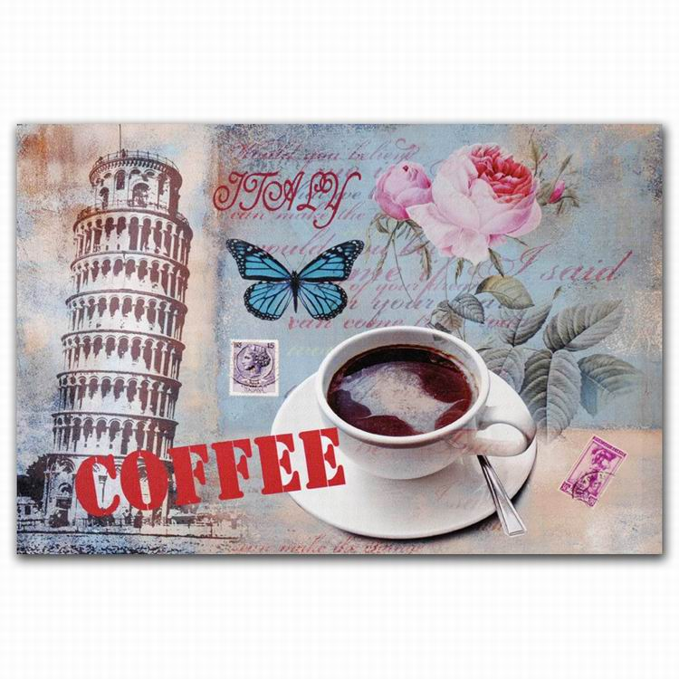 famous glitter canvas four season coffee cup oil painting 3 panel