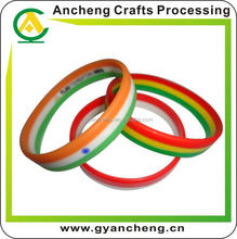 promotion silicone hemp flowers bracelet with SGS Certificate