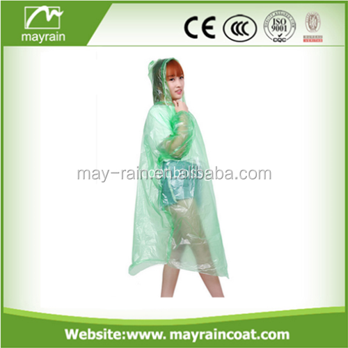 PE raincoats colourful PE rain poncho