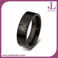 Fashion IP Black Color Stainless Steel Cheap Masonic Rings Wholesale