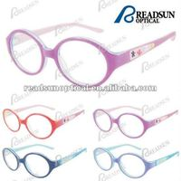Fashion acetate optical glasses frame with rubber decoration for girl( OAK512075)