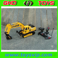 Hot sale Market toys 5 ch 1:18 radio control excavator rc excavator rc construction toy truck