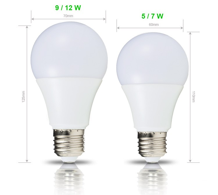 New product CE Rohs led light bulb dimmable E27 B22 aluminum housing 3w 5w 7w 9w 12w Cheap Led Bulb
